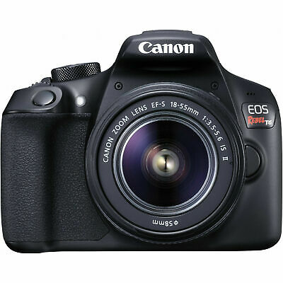 Canon EOS Rebel T6 18.0 MP DSLR Camera Kit with 18-55 EF-S Lens + 32GB SD CARD
