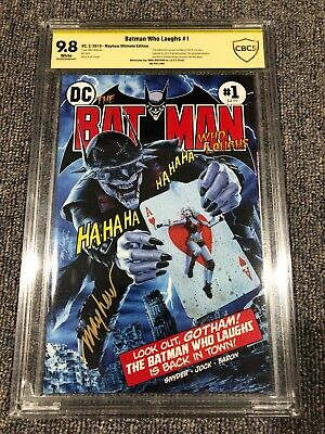 Batman Who Laughs 1 Mike Mayhew Ultimate Homage Variant DC #041/250 CBCS 9.8 SS