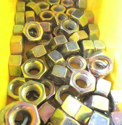 """5/16""""-18 Finished Hex Nuts Yellow Zinc"""