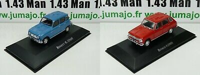 LOT 2 Voiture 1/43 SALVAT Autos Inolvidables : Renault 4L et Renault 6