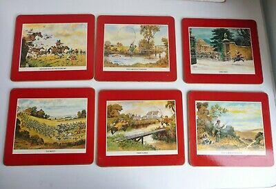 6 x Vintage THELWELL Placemats - Hunting, Fishing, Shooting