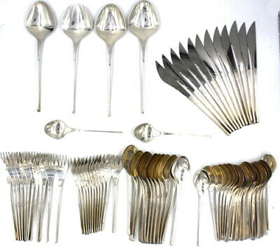 Vintage 78 Pcs International Vision Flatware Set Service For 12 Sterling Silver