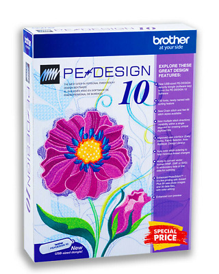 Brother PE Design 10 Embroidery Digitizing Upgrade Full Software Version New