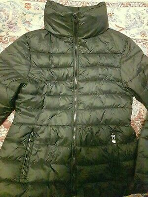 Zara Girls Casual Collection Black Puffa Hooded Jacket Coat Warm Size 4-5 Year