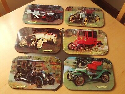 Vintage X6 Classic Car Placemats Tin coated.