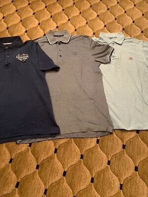 3 Mens Paul & Shark Polo Shirts All Size M