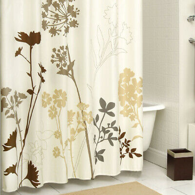 DS BATH Silhouette Tree Polyester Waterproof Fabric Printed Shower Curtain