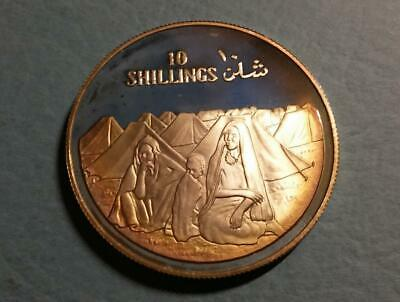 SOMALIA - 1979 sterling silver 10 Shillings - Refugees/Independence - toned PROO