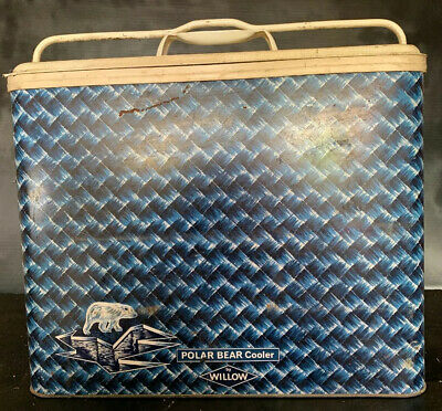 POLAR BEAR COOLER by WILLOW Vintage 1960's Metal Esky Portable Ice Cooler