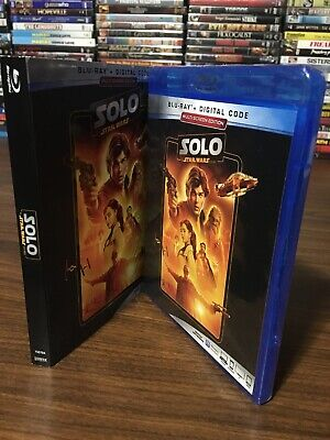 Solo A Star Wars Story Blu Ray + Slipcover + Digital Multi-Screen Edition New