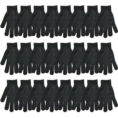 CUGBO Black Winter Warm Knit Magic Gloves for Unisex Adults-One Size Fits... New