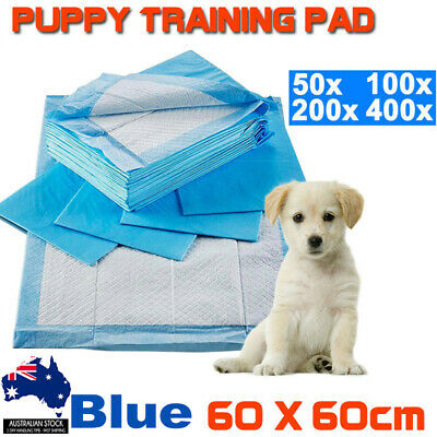 50X to 400X Pet Toilet Training Pads Puppy Dog Cat Indoor 60x60cm Super Absorben
