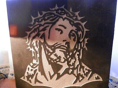 Jesus of Nazareth engraved stone granite picture display