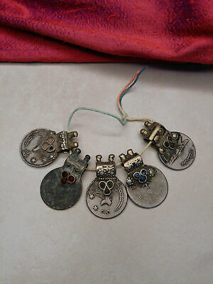 Vintage Tribal Coins Unique Waziri Bail Old Findings 5x