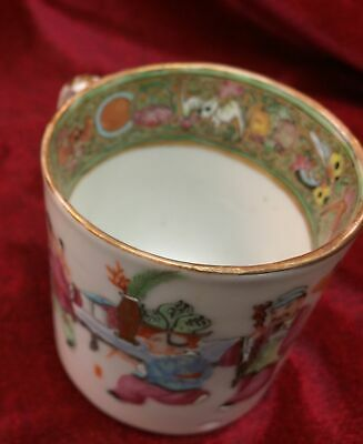 "19Th C Antique Chinese Export Famille Verte Cup 2.75"" Tall"