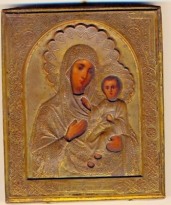 Russian  Imperial Antique Icon  Smolenskaya (#2210s)