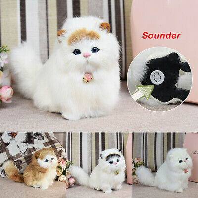 New Plush Cuddly Critters Lying Persian Cat Soft Toy Kitten Teddy Assorted
