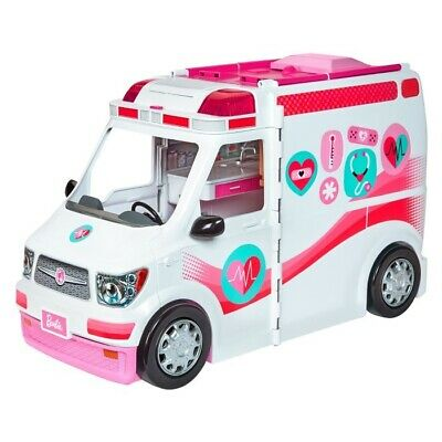 💕Barbie Care Clinic 2-in-1 Fun Playset for Ages 3Y+ Girl Toy Vehicle Ambulance