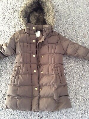 Girls M&S Brown Thermal Coat Age 7-8 Years