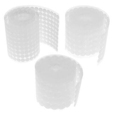 1000 Pairs Double-sided Adhesive Fastener Tape Hooks Loops Disks White Oy