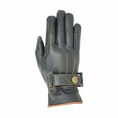 Hy5 Thinsulate Leather Winter Equestrian Horse Riding Gloves