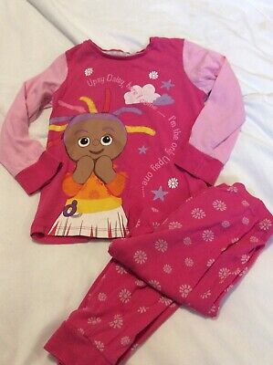 Girls Pink Night Garden Upsy Daisy Pjs Mother Care 4/5 Yrs Good Clean Condition