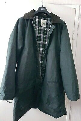 Mens Khaki Green Waxberry Winter Waxed Padded Heavy Cotton Jacket Coat XXL 54""