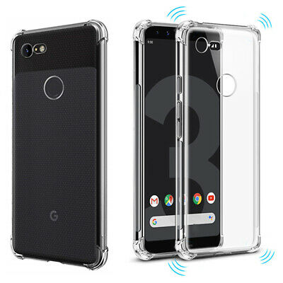 Shockproof Clear Soft Silicone for Google Pixel 3XL 2XL Pixel 3 Full Cover Case