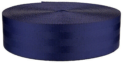 2 Inch Seat-Belt Navy Blue Polyester Webbing Closeout, 10 Yards