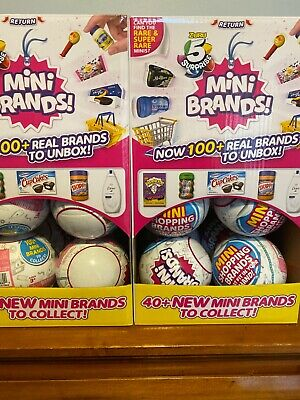 5 Surprise Mini Brands By Zuru - 1 Ball (5 total figures) New & Sealed!!!