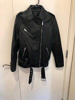 Zara Women Bomber Girls Rule Jacket Xs SOLD OUT...NWOT black leather