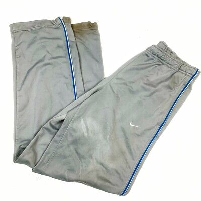 NIKE Mens Grey Tracksuit Bottoms Pants Small Polyester Vintage Retro