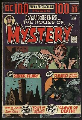 House of Mystery 224 DC Comics Hundred Pages Neal Adams Bernie Wrightson art
