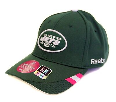 New York Jets Ball Cap - Hat - Breast Cancer Awareness Hat - Pink Stripe