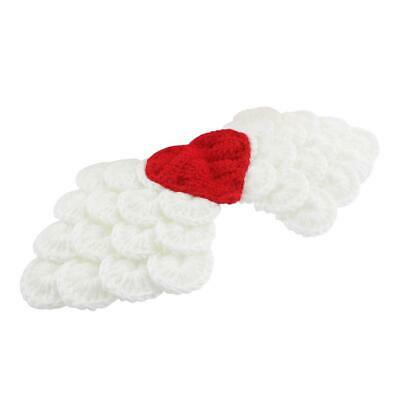Newborn Baby Boys Girls Photography Clothing Hand Knitted Solid Angel Wings