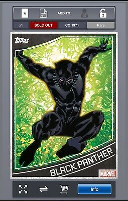 Rare - MARVEL Collect! by Topps - Modern Vintage Wave 2 - Black Panther - CC1971