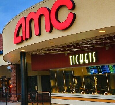 AMC Theaters Movie Night Package! 4 TICKETS - 4 DRINKS - 2 POPCORNS