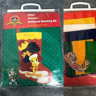 Looney Tunes Tweety's Christmas Stocking Kit Felt Applique Needlework Kit