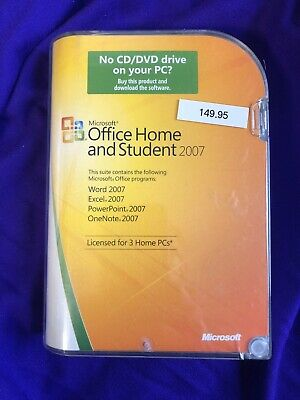 Microsoft Office Home and Student Word Excel PowerPoint OneNote 2007 Genuine  Ts
