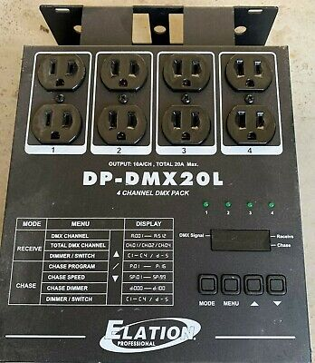 ADJ DP-DMX20L 4-channel DMX Dimmer/Switch Pack