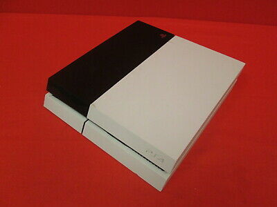 Broken Sony PlayStation 4 500GB White Video Game Console 0752