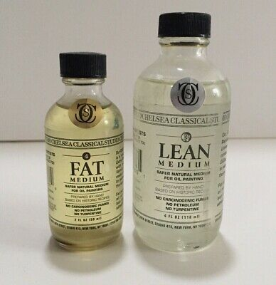 CHELSEA CLASSICAL STUDIO * OIL PAINTING MEDIUMS FAT LEAN * safer, less toxic