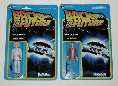 Funko-ReAction Figures-Back to the Future-Doc Brown & Marty McFly-2pc.-NIP-2014