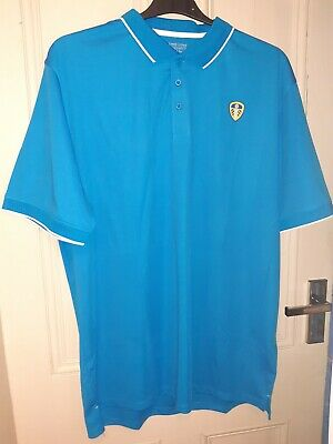 LEEDS UNITED FC Light Blue Polo Shirt OFFICIAL Merchandise NEW with Tags XL