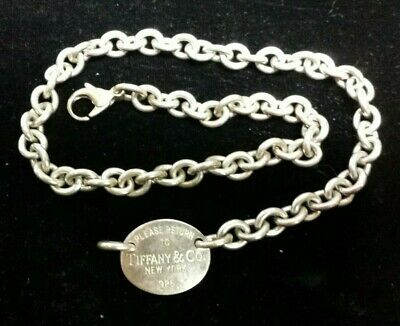 Please Return to Tiffany & Co Sterling Silver Broken Necklace Pre-owned