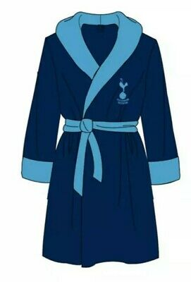 Tottenham Spurs FC Mens Dressing Gown Official Kit Fleece Robe Xmas Gift New S