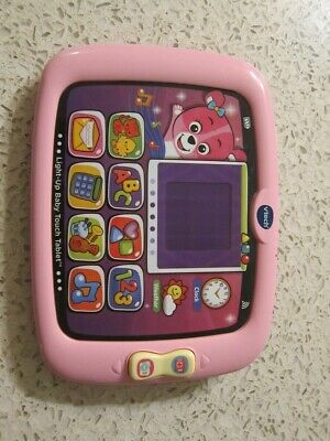 Vtech Light-Up Baby Touch Tablet Educational Play Toy - Pink - Tested Working