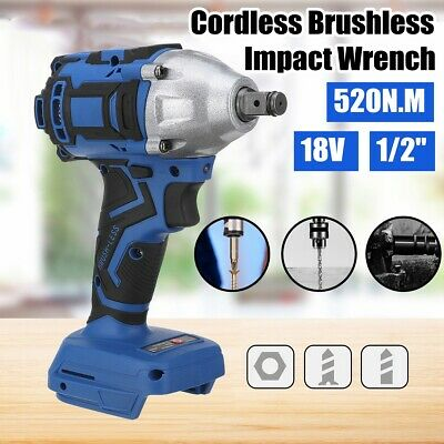 18V 520Nm 1/2'' Cordless Brushless Impact Wrench For Makita Battery DTW285Z AU