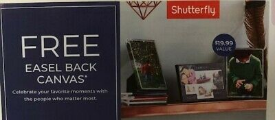 "Shutterfly 5""x7"" Easel Back Canvas expires 12/31/19 starts with SMGD"