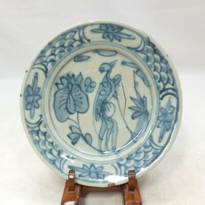 E720: Chinese plate of real old blue-and-white porcelain of MING GOSU